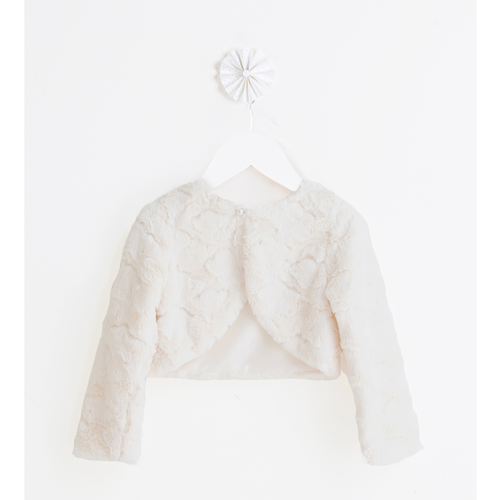Sweet Kids Cloud Bolero in Ivory and Blush