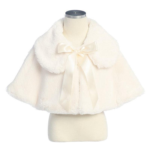 Sweet Kids Fur Cape in Ivory