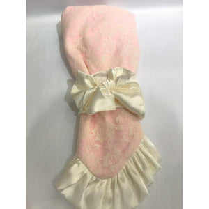 Cuddle Couture Satin Bow Receiving Blanket