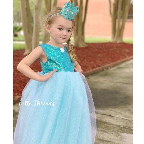 Belle Threads Royal Sparkle Princess Snowflake Dress