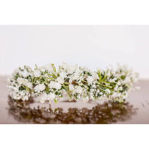 Baby's Breath Flower Halo floral ivory wedding