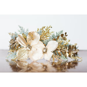 Glimmering Wreath Flower Halo floral crown ivory gold