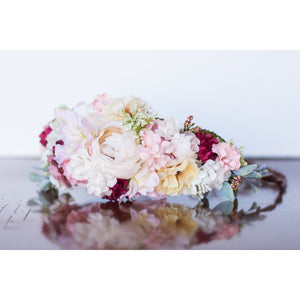 Summer Flowers Halo floral crown pink