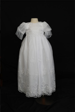 Sweetie Pie Juliet Sleeve Christening Gown