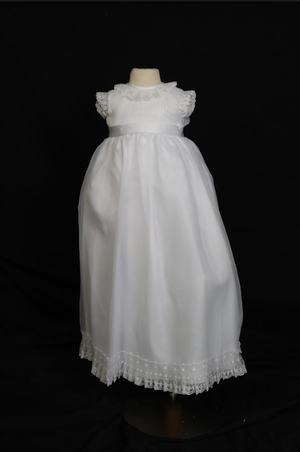 Sweetie Pie Frilly Neck Christening Gown