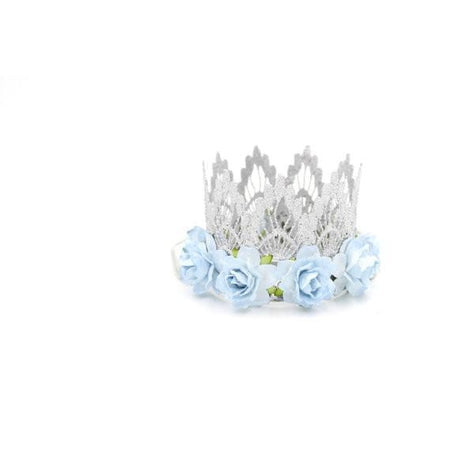 Love Crush Crowns Silver and Blue Lace Crown