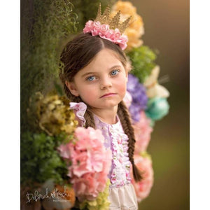 Lace Crown Flower and Ruffle Crown