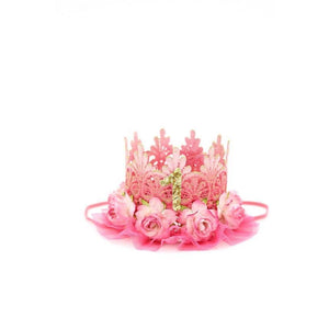 Lace Crown Pink Ombré Birthday