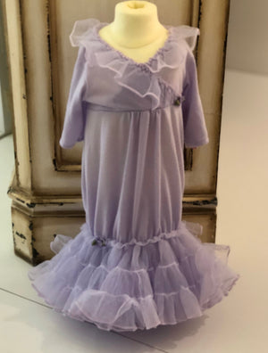 Laura Dare Frilly Sacque in Lilac