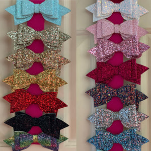 Large Glitter Bows