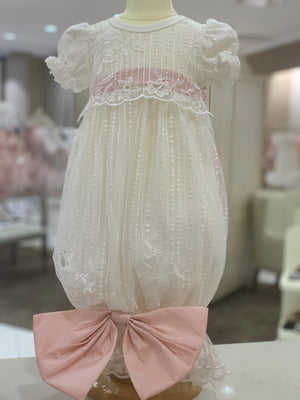 Infant Gown with Oversized Bow
