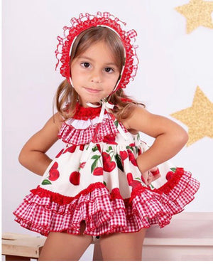 Summer Cherry Spanish Dress