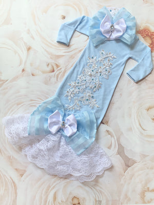 Jeweled Infant Gown