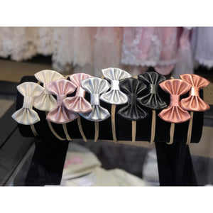 Baby Leather Bow Headbands
