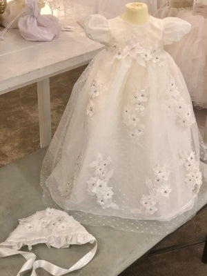 Floral Christening Gown