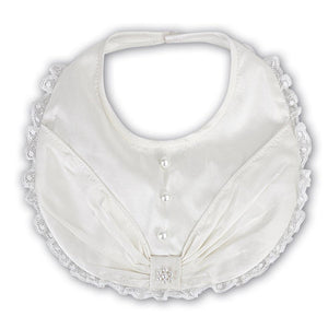 Sarah Louise Pearl And Lace Bib