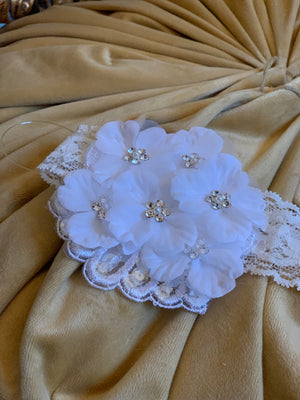 Multi Flower Lace Headband