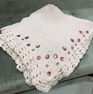 Pink Chenelle Blanket with Jewels