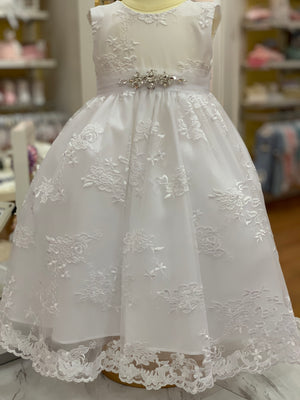 Sweetie Pie Lace White Dress