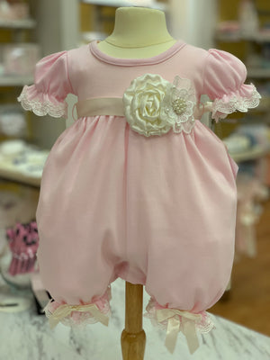 Katie Rose Pink Romper and Headband Set