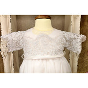 Custom Couture Silk Christening Gown