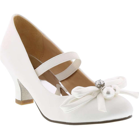 Badgley Mischka White Satin Pump