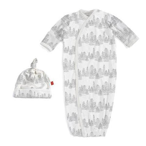 Magnificent Baby White Aspen Magnetic Sack Gown Set