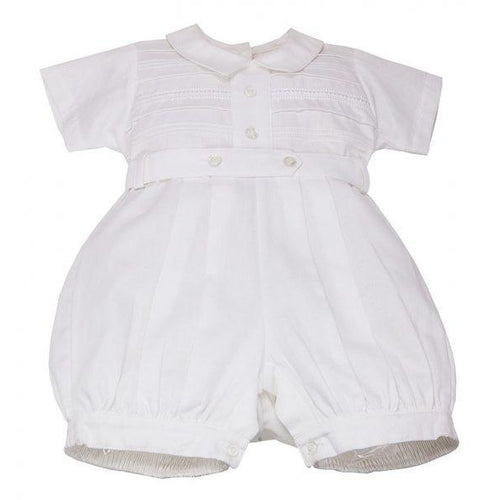 Karela Kids White Pique Bubble Romper 1955