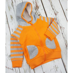 Blade and Rose Striped Orange Hoodie