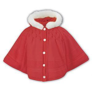 Sarah Louise Poncho in Red