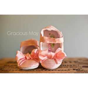 Gracious May Silk Bow Shoe in Pink