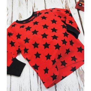 Blade and Rose Red & Black Star Top