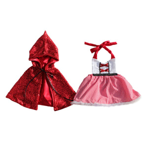 Belle Threads Red Riding Hood with Sparkle Cape