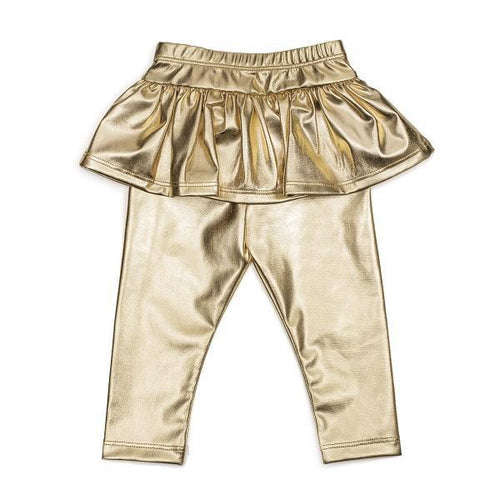 Gold Skirted Leggings