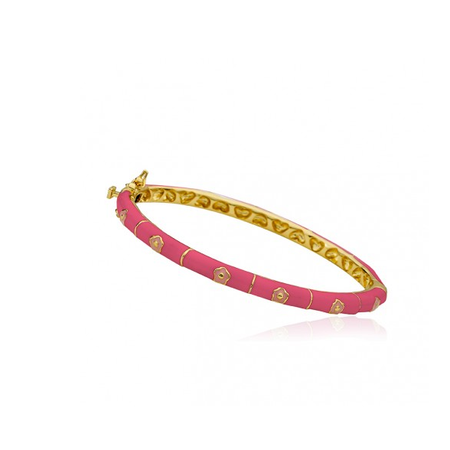 hot pink bangle twin star