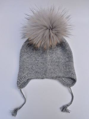 Single Pom Angora Hat