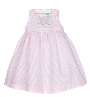Luli & Me Pink Smock Bunny Dress
