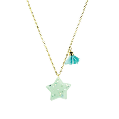 Little Miss Zoe Sparkle Star Necklace Birthday Jewelry