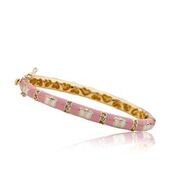 Twin Stars Pink Cubic Zirconia Butterfly Bangle