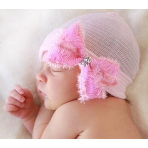 Cradle Cuties Zebra Bow Hat