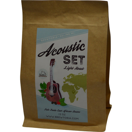 Acoustic Set - Ethiopian Light Roast Fair Trade - 12 ounces, FREE Shipping