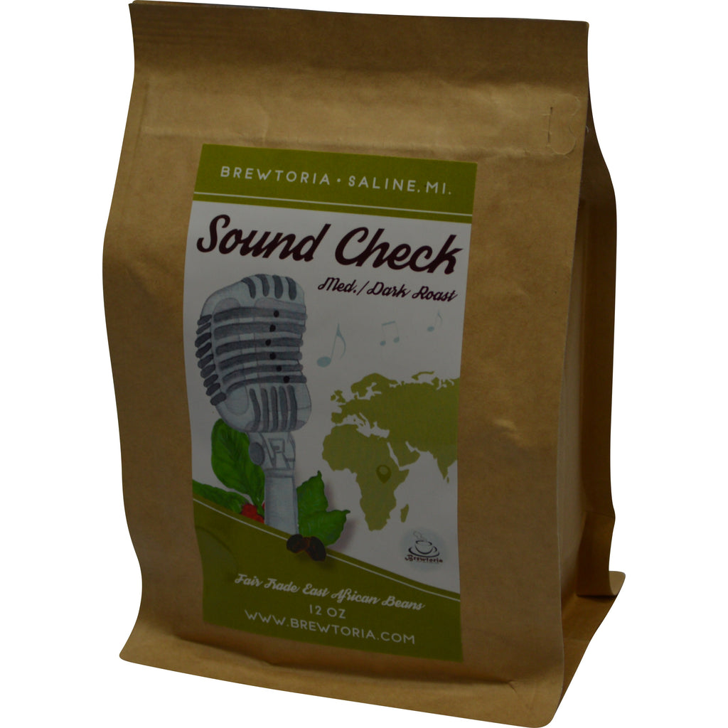 Sound Check - Rwandan Med/Dark Roast, Fair Trade, 12 ounces, FREE Shipping