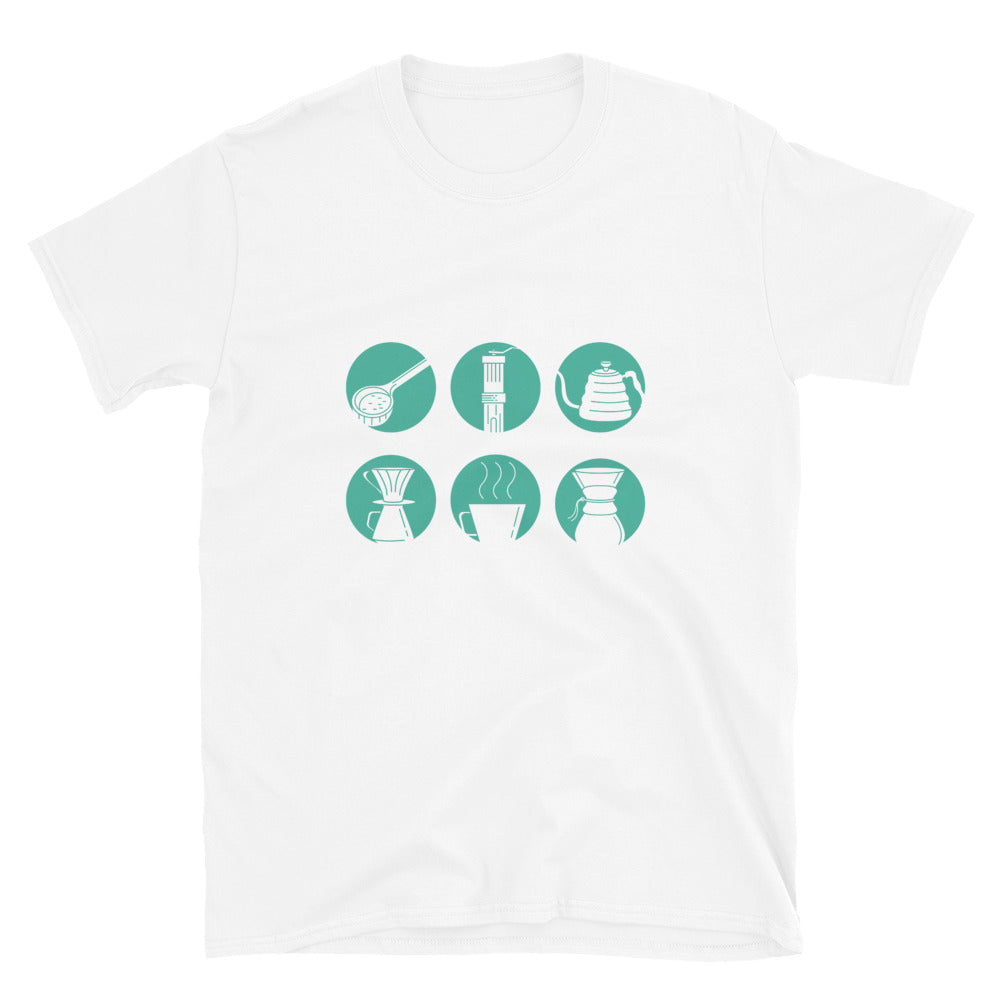 Brewtoria Coffee - Home Craft Coffee Brewing T-Shirt - Teal