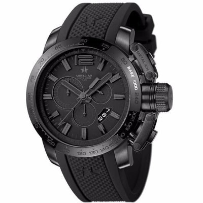 Metal Chronometrie Herenhorloge Metal Chronometrie - Chronosport Series 4420.44 - Heren Horloge (Zwart met zwarte band)