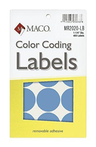 MACO Big Round Color Coding Labels