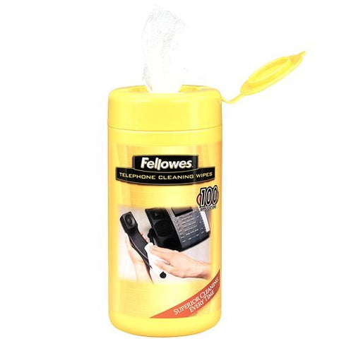 Fellowes Telephone Cleaning Wipes