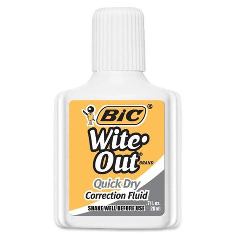 Bic Quick Dry White Correction Fluid