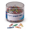 OIC Paper Clips Vinyl Coated Assorted Color Tub