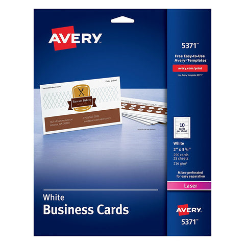 Avery 5371 White Business Cards