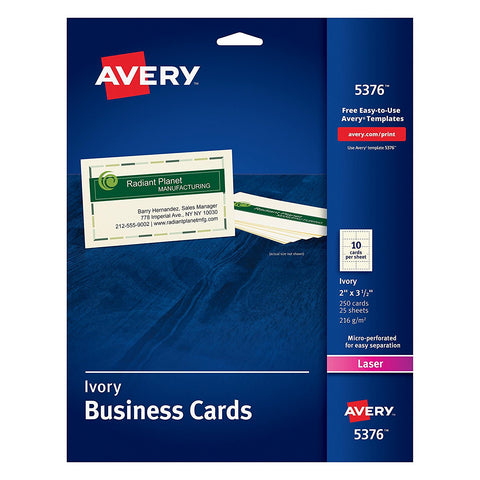 Avery 5376 Ivory Business Cards